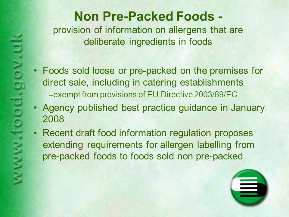 How to balance the needs for information of those that are allergic or intolerant to certain foods against the practical problems faced by businesses in supplying such information Which allergens.