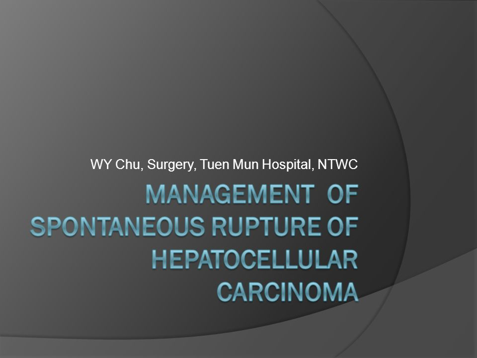 WY Chu, Surgery, Tuen Mun Hospital, NTWC