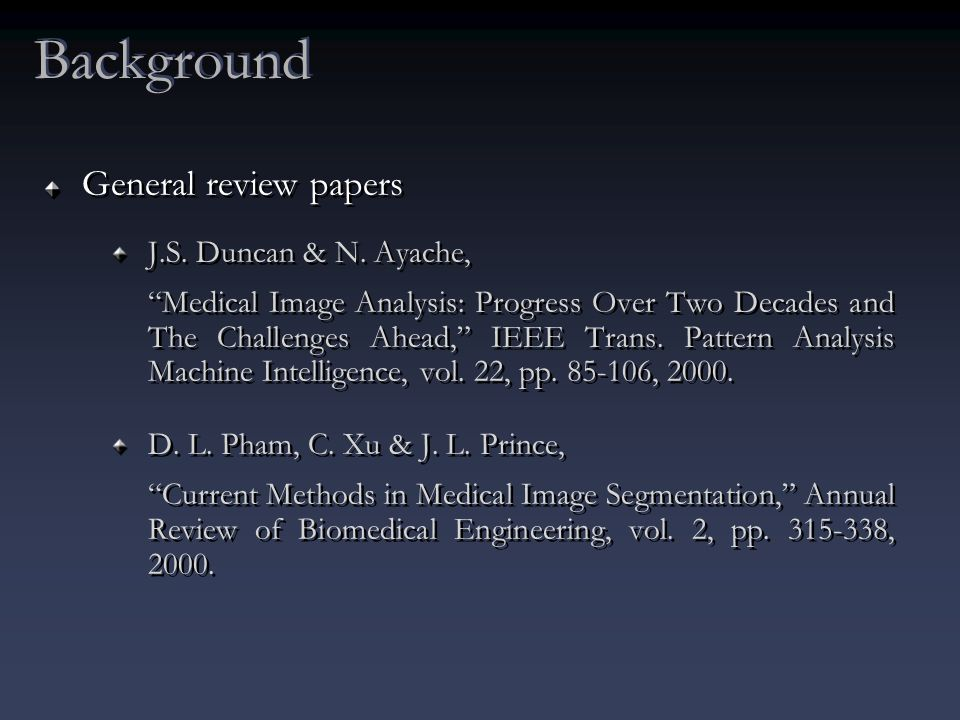 General review papers J.S. Duncan & N.