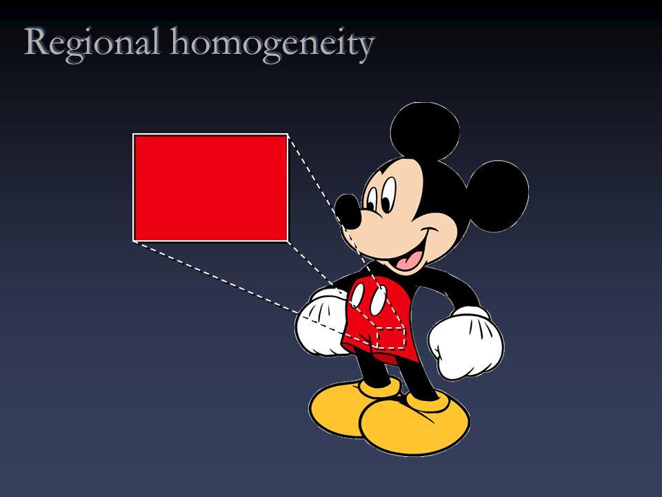 Regional homogeneity