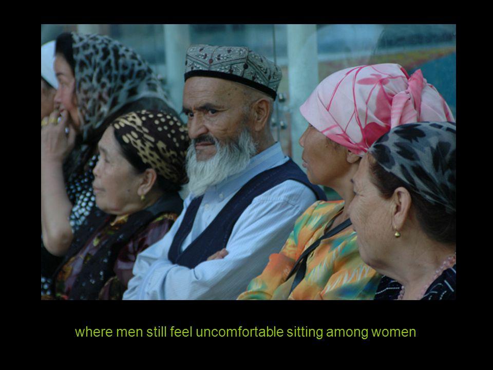 where men still feel uncomfortable sitting among women