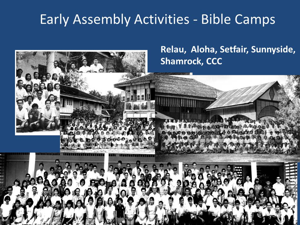 Early Assembly Activities - Bible Camps Relau, Aloha, Setfair, Sunnyside, Shamrock, CCC