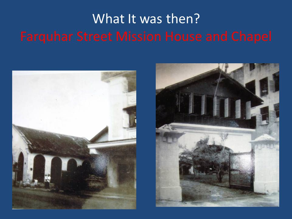 What It was then Farquhar Street Mission House and Chapel