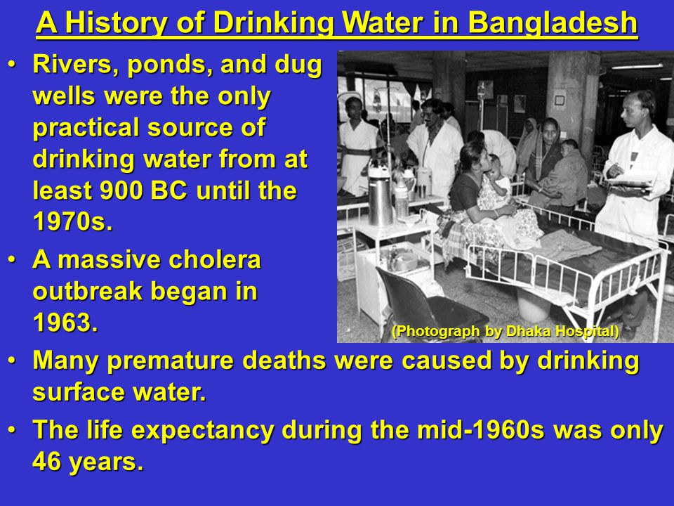 Many premature deaths were caused by drinking surface water.Many premature deaths were caused by drinking surface water. The life expectancy during th