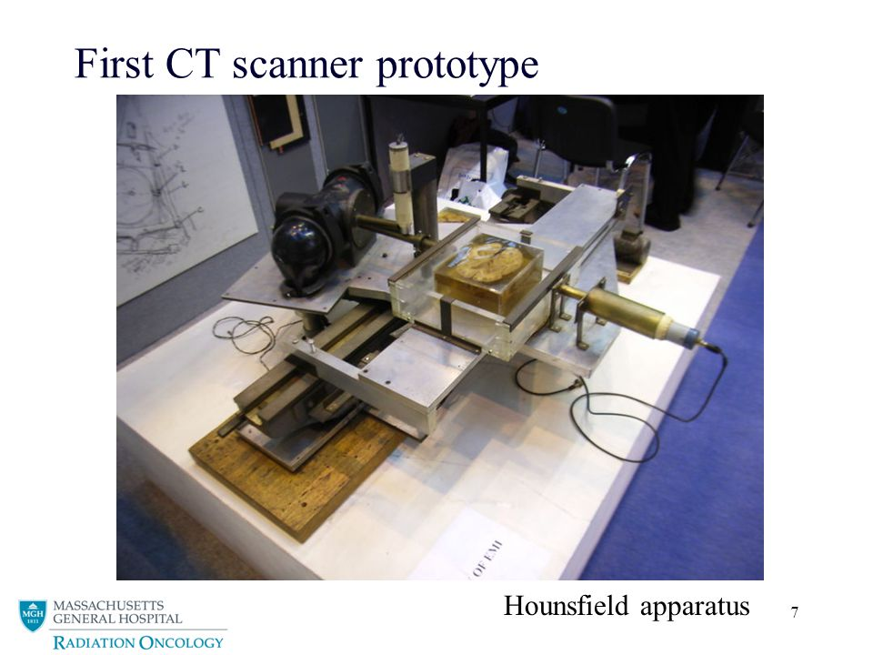 7 First CT scanner prototype Hounsfield apparatus