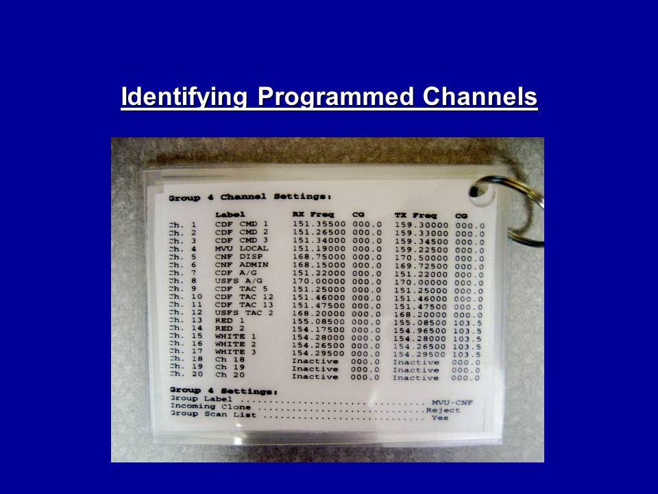 Identifying Programmed Channels