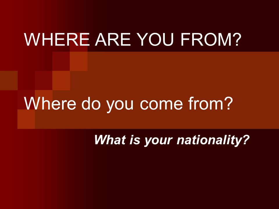 . Where is Murat from? Wheer does he come from? What is his nationality?