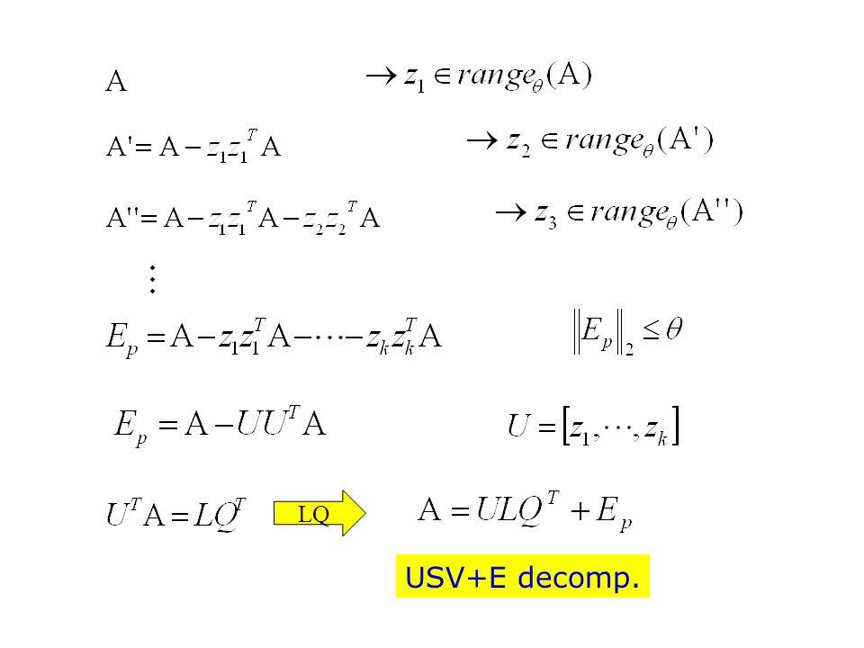 USV+E decomp. LQ