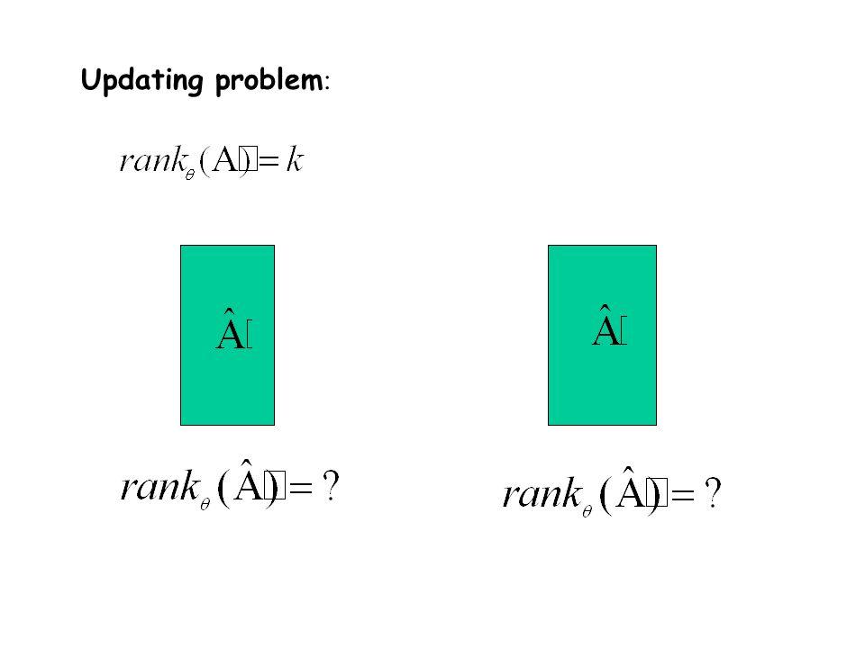  Updating problem :