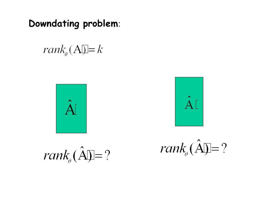 AU = + Row updating AU = + 1 AU = + 1