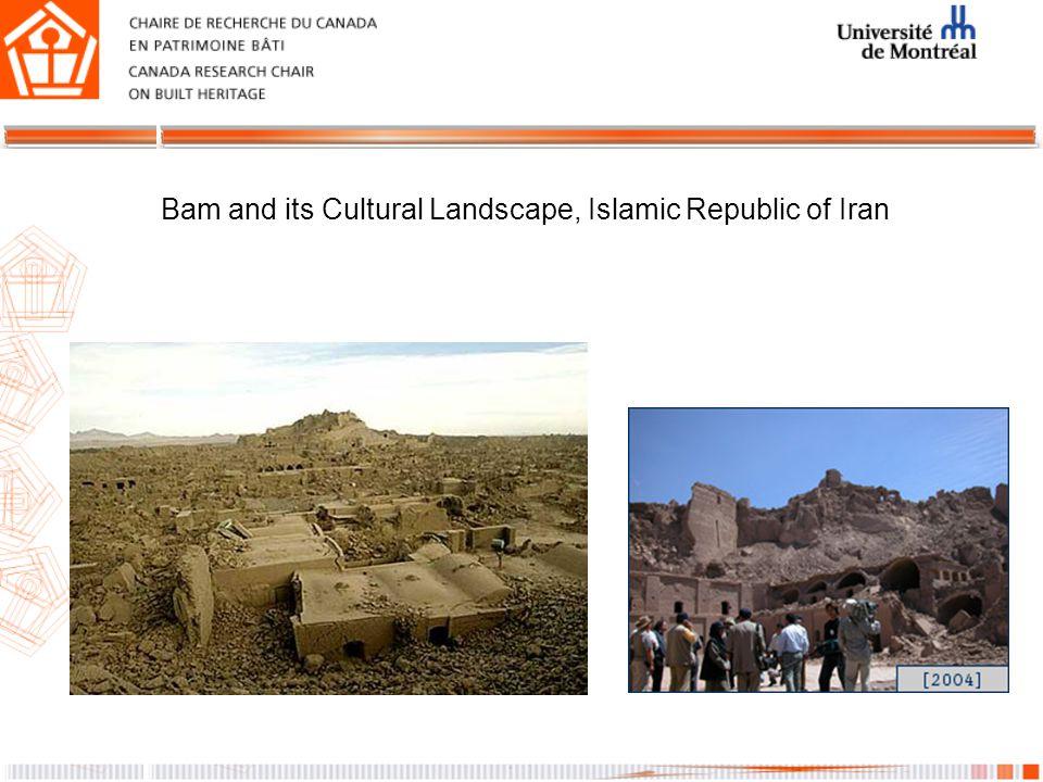 Bam and its Cultural Landscape, Islamic Republic of Iran