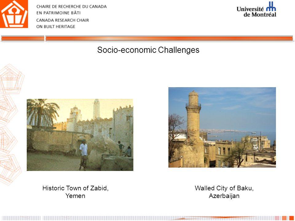 Socio-economic Challenges Walled City of Baku, Azerbaijan Historic Town of Zabid, Yemen