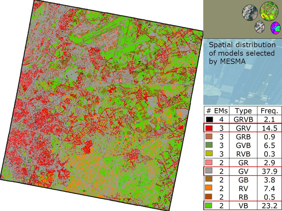 Page 9 Spatial distribution of models selected by MESMA