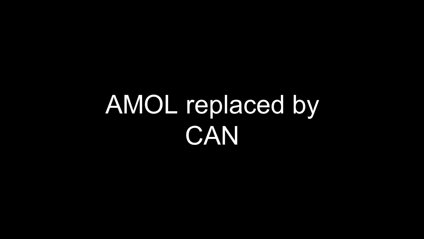 AMOL replaced by CAN