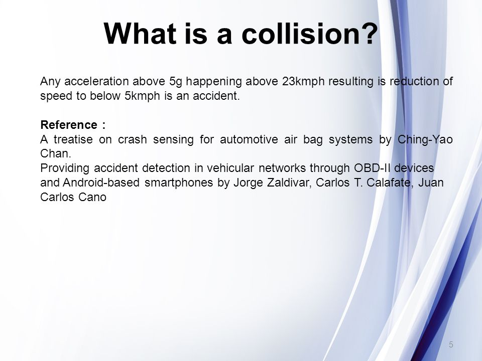 What is a collision.