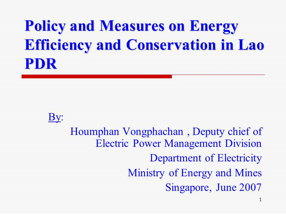12 Plan for Energy Efficiency and Conservation  Establishing policy on EE&C;  Establishing decree and guidelines on EE&C;  Establishing agency responsible for EE&C;  Disseminating and campaign EE&C;