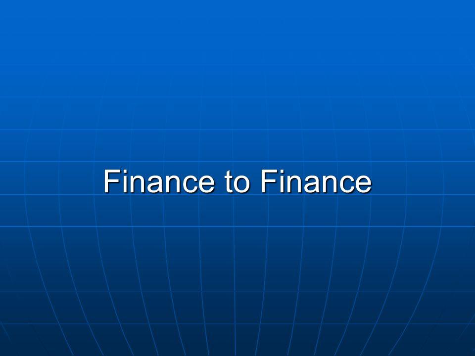 Finance to Finance