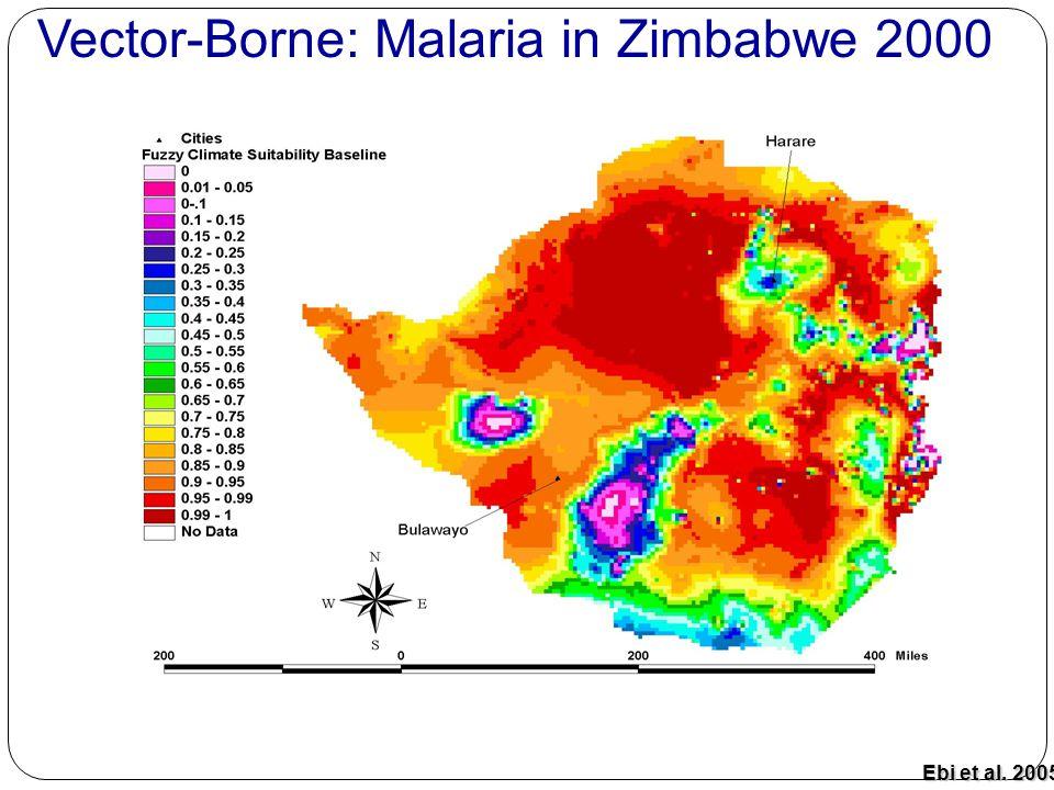 Baseline Ebi et al. 2005 Vector-Borne: Malaria in Zimbabwe 2000