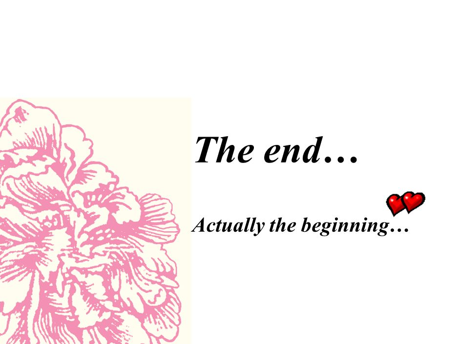 The end… Actually the beginning…