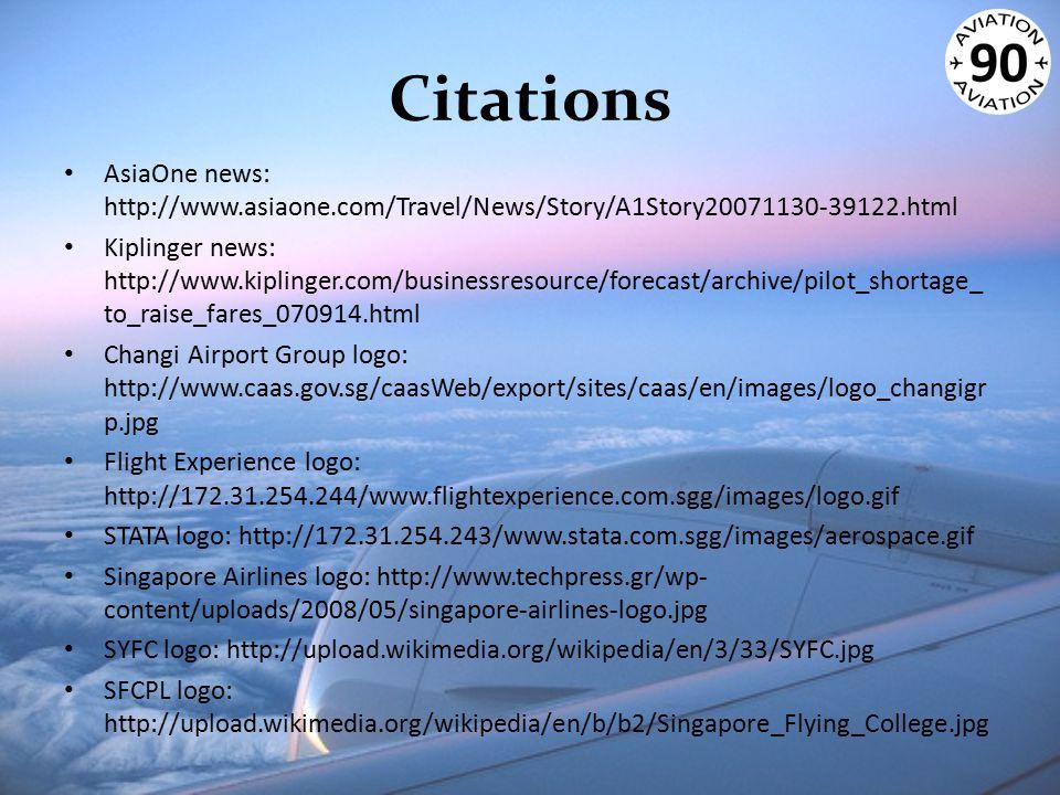 Citations AsiaOne news: http://www.asiaone.com/Travel/News/Story/A1Story20071130-39122.html Kiplinger news: http://www.kiplinger.com/businessresource/