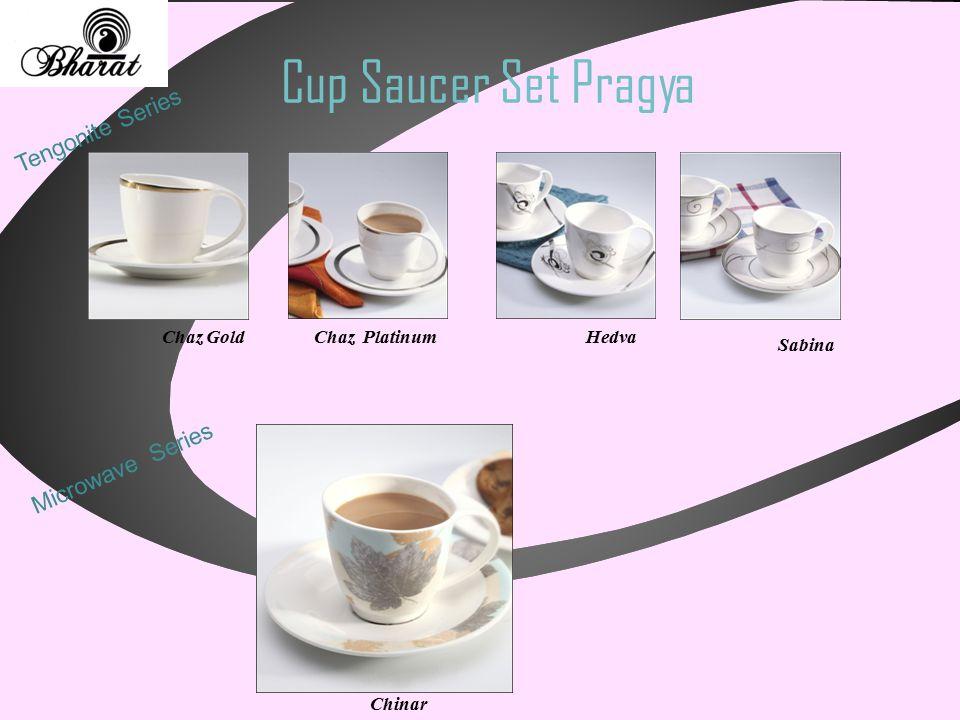 Cup Saucer Set Pragya Tengonite Series Chaz GoldChaz PlatinumHedva Sabina Microwave Series Chinar