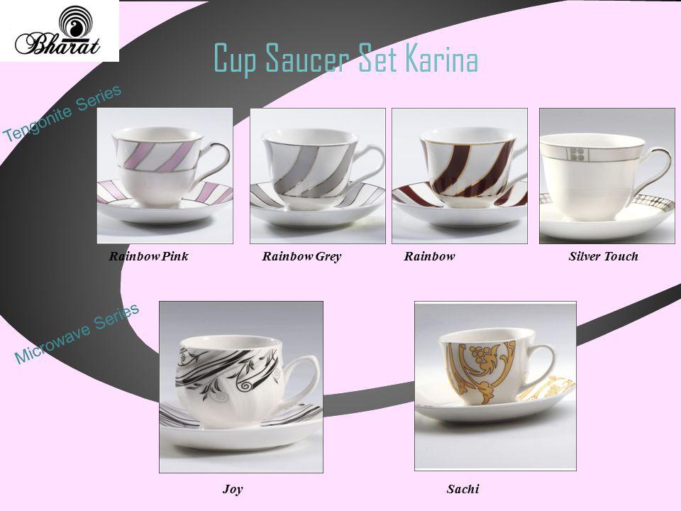 Cup Saucer Set Karina Tengonite Series Silver TouchRainbow PinkRainbow GreyRainbow Microwave Series JoySachi