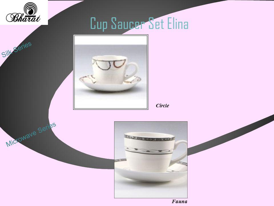 Cup Saucer Set Elina Silk Series Circle Microwave Series Fauna