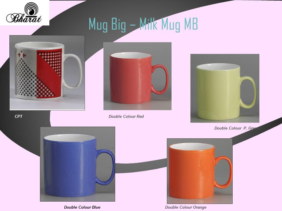 Mug Big – Milk Mug MB CPT Double Colour Blue Double Colour Red Double Colour Orange Double Colour P. Green