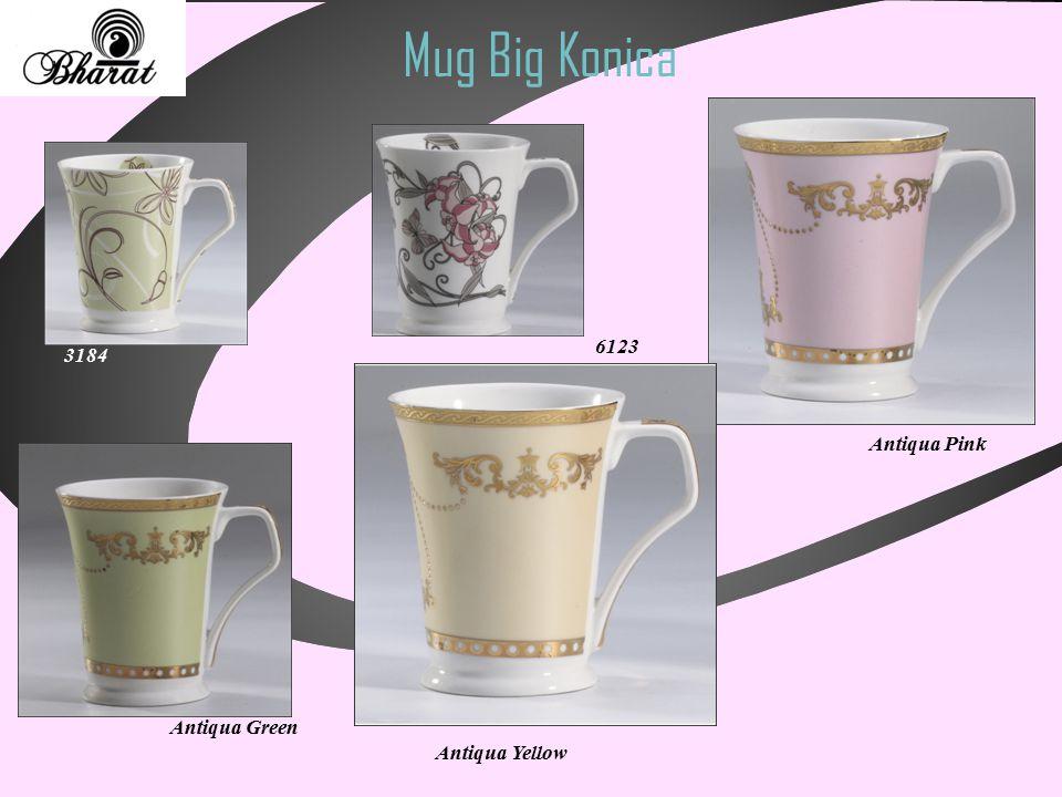 Mug Big Konica Antiqua Green 3184 6123 Antiqua Pink Antiqua Yellow