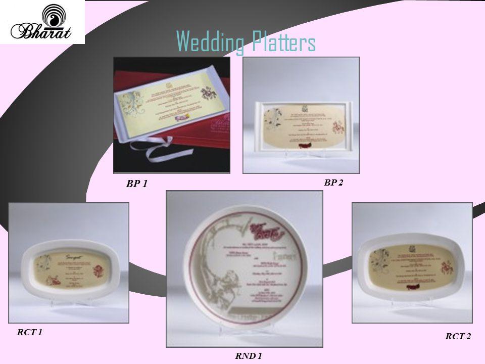 Wedding Platters RND 1 RCT 1 RCT 2 BP 1 BP 2