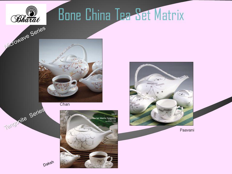 Bone China Tea Set Matrix Microwave Series Chan Paavani Tengonite Series Daksh