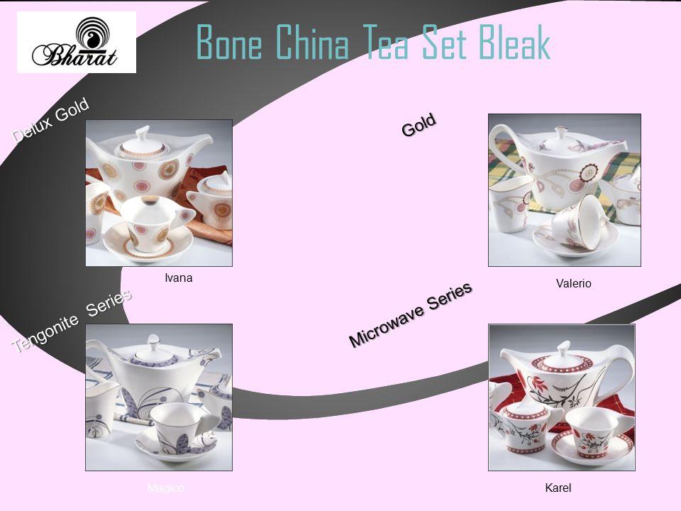 Bone China Tea Set Bleak Microwave Series Tengonite Series Delux Gold Gold Gold Ivana Karel Magico Valerio