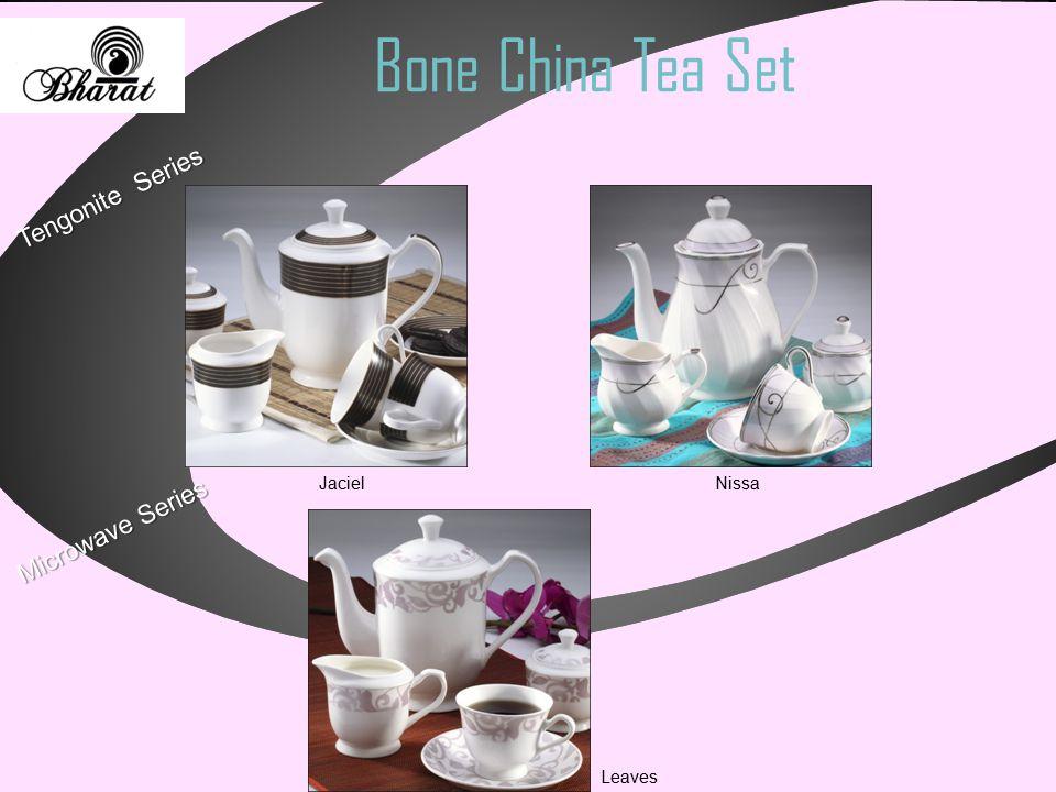 Bone China Tea Set Microwave Series Tengonite Series Jaciel Nissa Leaves