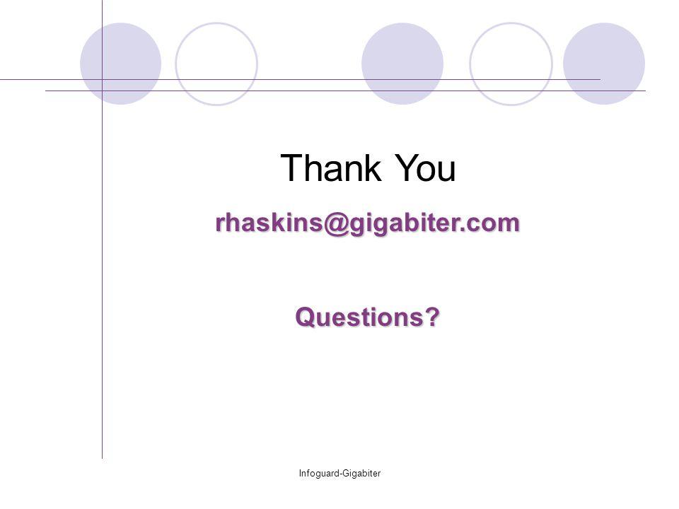 Infoguard-Gigabiter Thank Yourhaskins@gigabiter.comQuestions