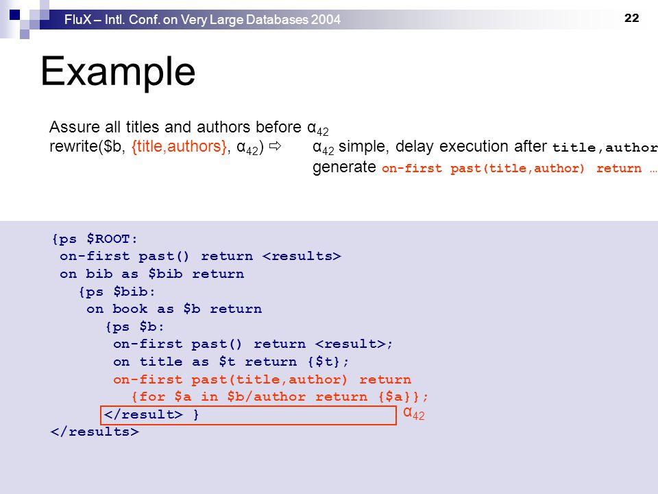 FluX – Intl. Conf.