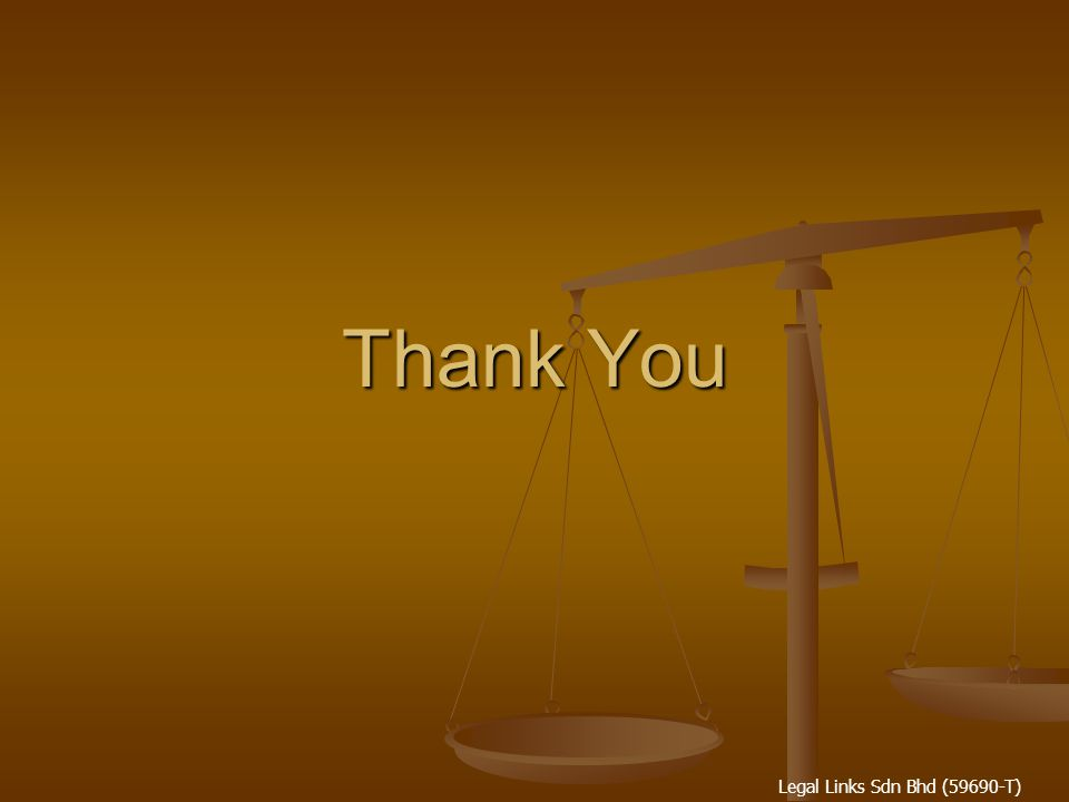 Legal Links Sdn Bhd (59690-T) Thank You