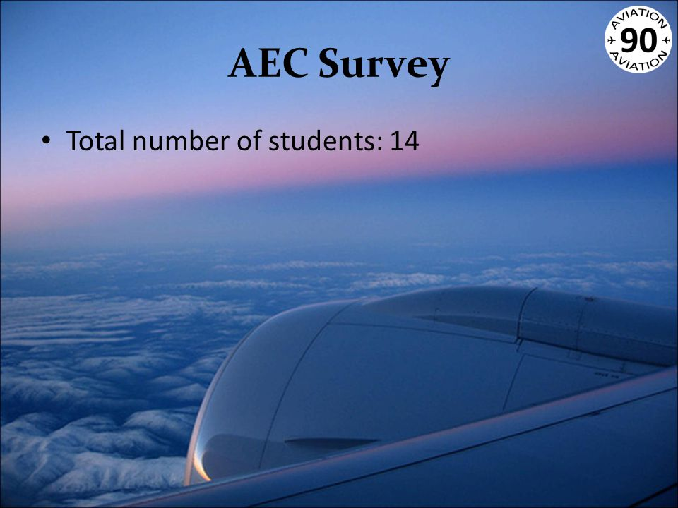 AEC Survey Total number of students: 14