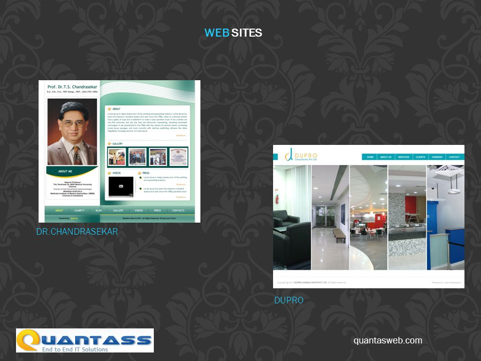 quantasweb.com DR.CHANDRASEKAR DUPRO WEB SITES