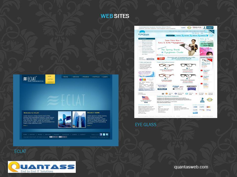 quantasweb.com ECLAT EYE GLASS WEB SITES