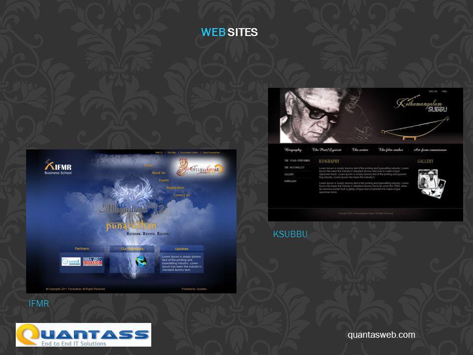 quantasweb.com IFMR KSUBBU WEB SITES