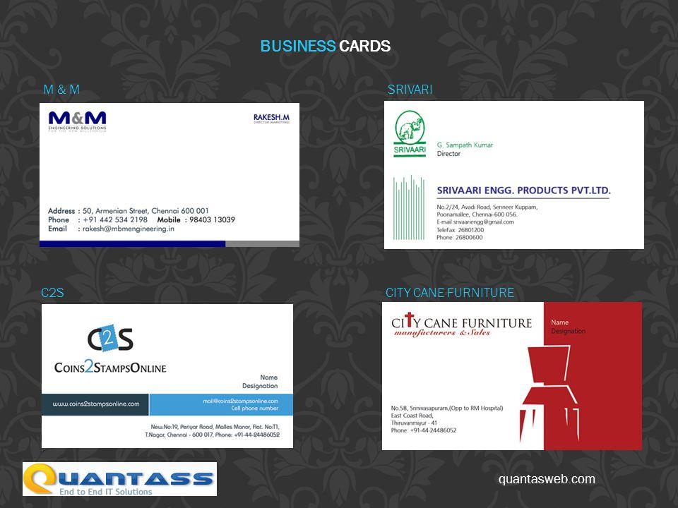 quantasweb.com SRIVARI BUSINESS CARDS M & M CITY CANE FURNITUREC2S