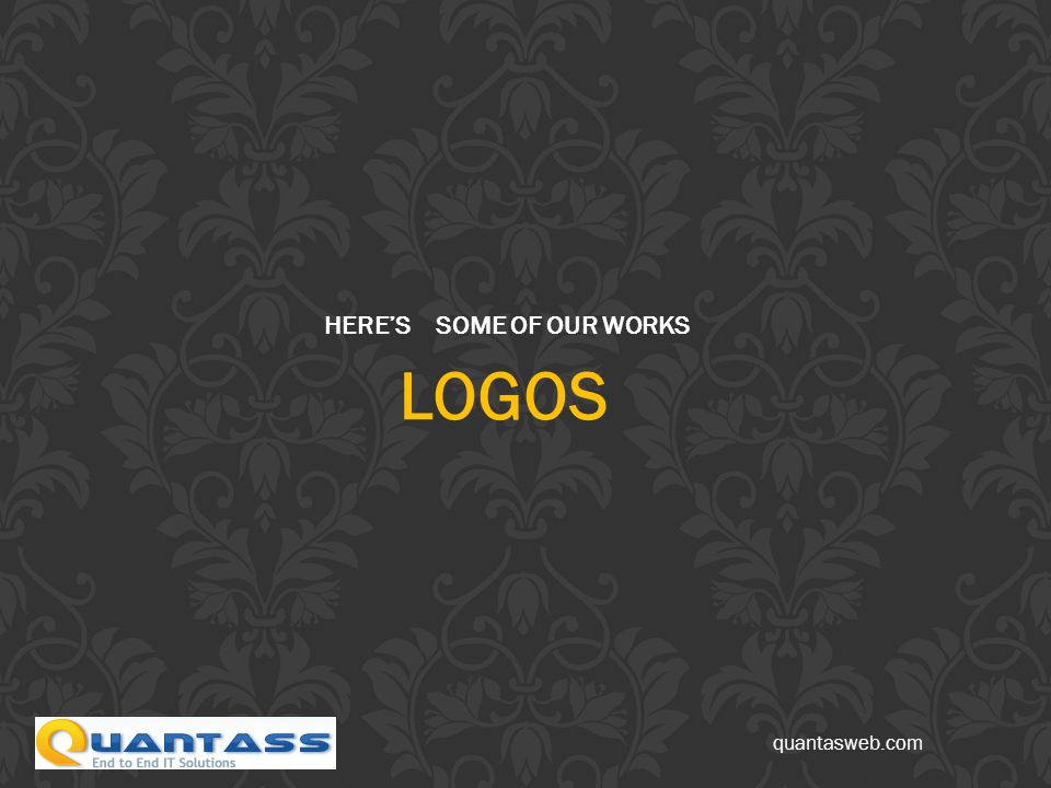 HERE'S SOME OF OUR WORKS LOGOS quantasweb.com