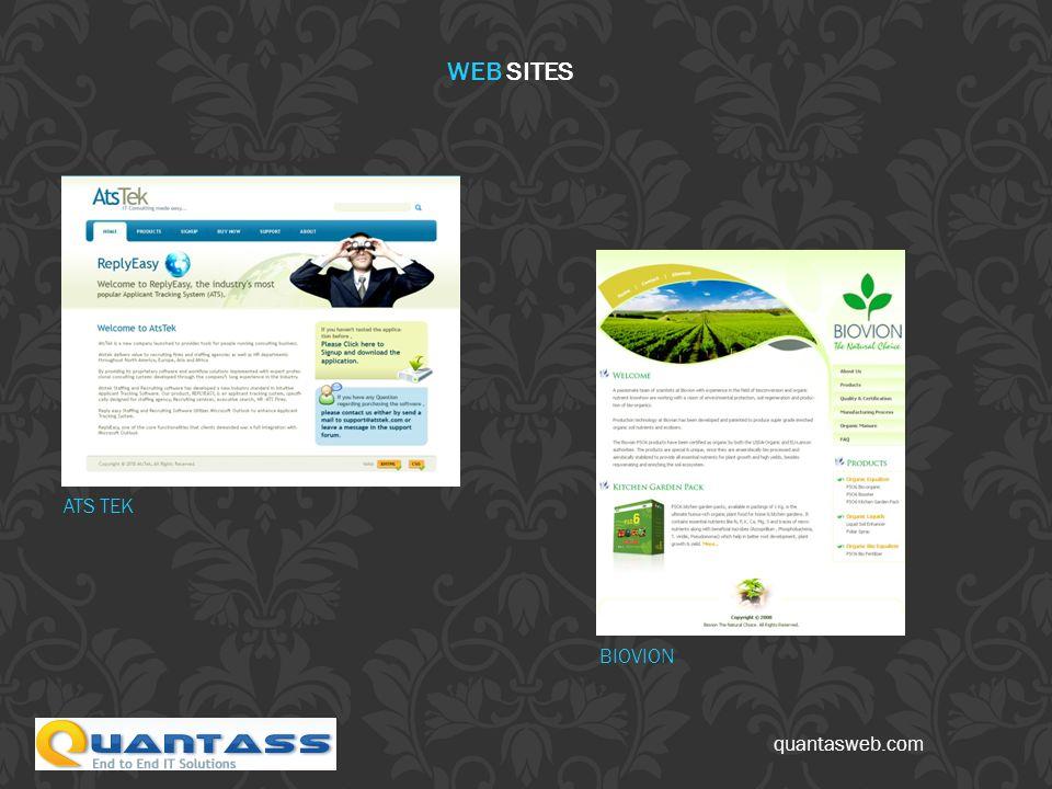 quantasweb.com ATS TEK BIOVION WEB SITES