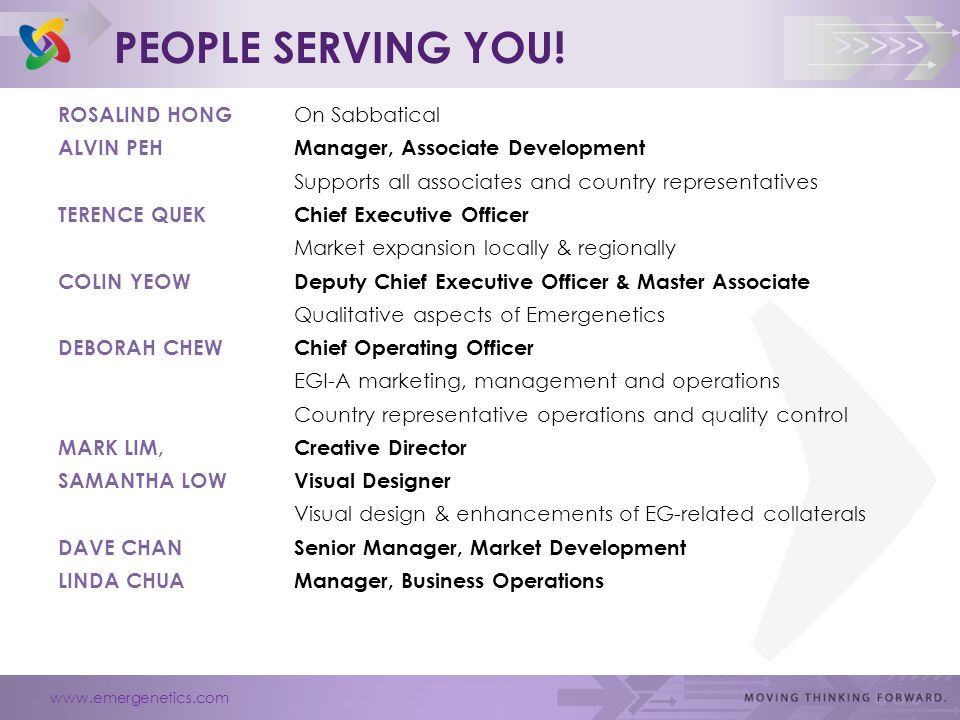 www.emergenetics.com >>>>> PEOPLE SERVING YOU.