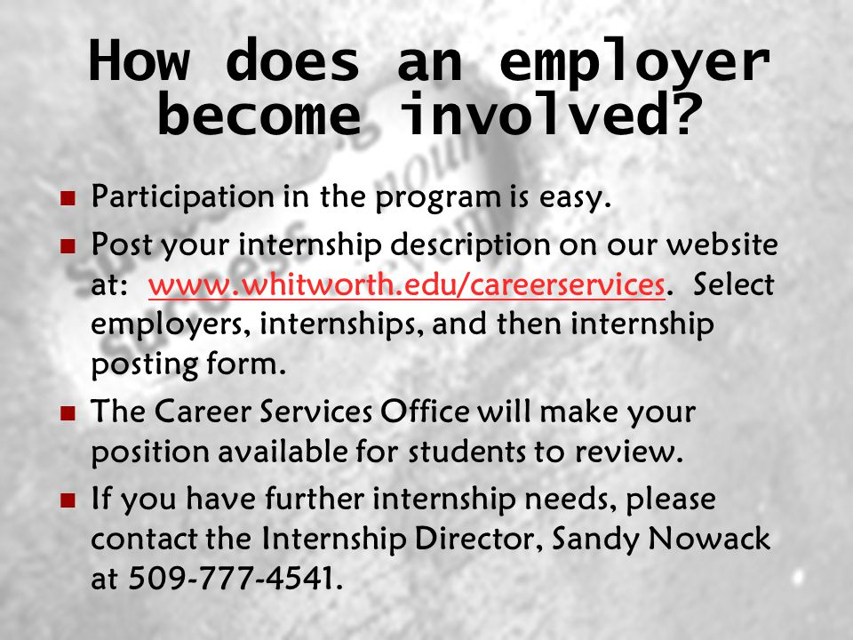 How does an employer become involved. Participation in the program is easy.
