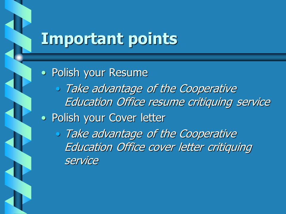 Important points ReferencesReferences FacultyFaculty Former employersFormer employers