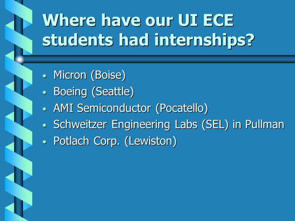 Where have our UI ECE students had internships.