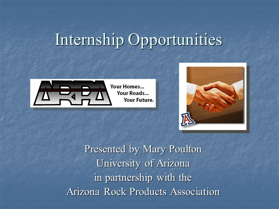 Providing an internship opportunity within your company is a great opportunity for both you as an employer and for students who are pursuing a career in the aggregate industry.