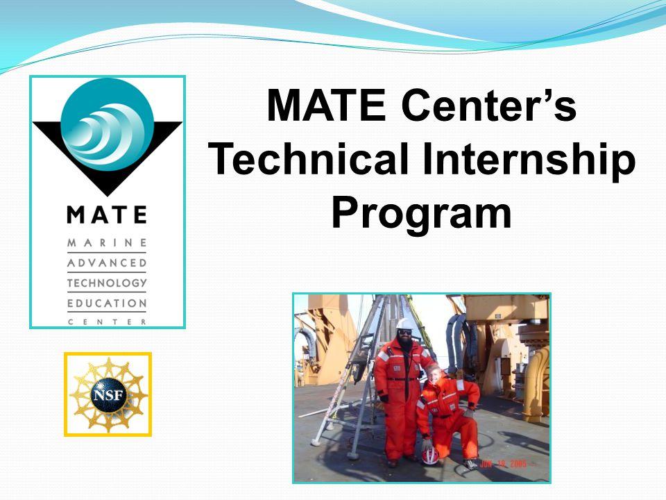 MATE Center's Technical Internship Program