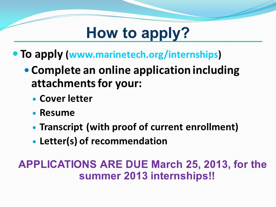 How to apply.